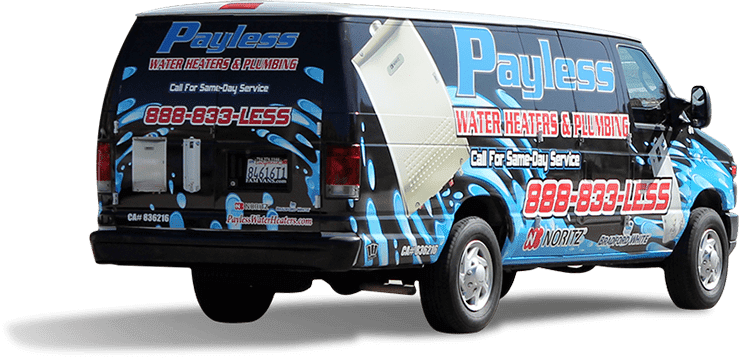 Payless Water Heaters van